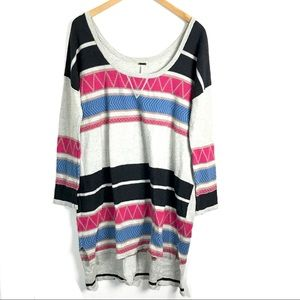 3/$25 Free People Sweater Dress Size M/L Striped